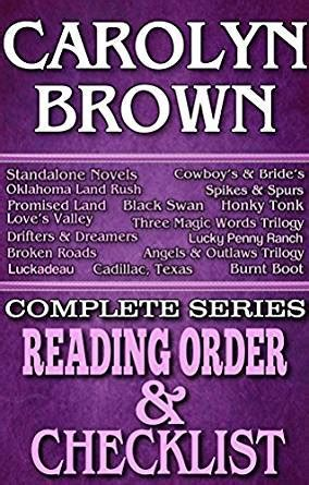 CAROLYN BROWN: SERIES READING ORDER & BOOK CHECKLIST