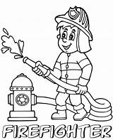 Firefighter Coloring Pages Firefighters Fire Fighter Children Printable Professions Marvelous Thank sketch template