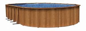 Piscine Hors Sol Acier Imitation Bois : travaux piscine hors sol imitation bois ~ Dailycaller-alerts.com Idées de Décoration
