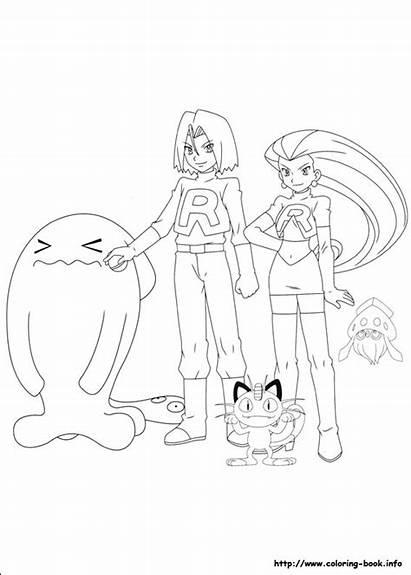 Pokemon Coloring Pages Printable Rocket Team Coloriage