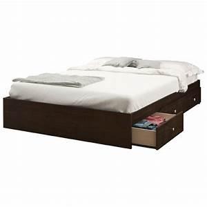 Lit 1 Place Avec Rangement : lit double avec rangement pocono de nexera 4654 espresso lits et cadres de lit best buy ~ Teatrodelosmanantiales.com Idées de Décoration