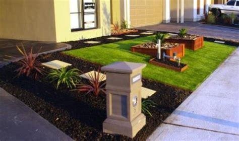 membuat taman depan rumah rancangan desain rumah