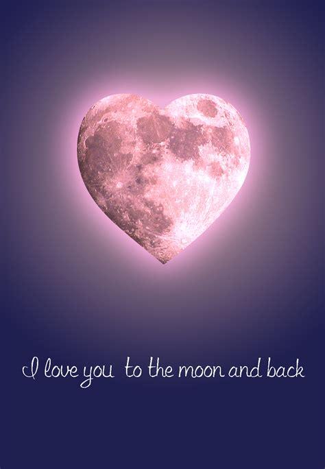 moon   love card   island