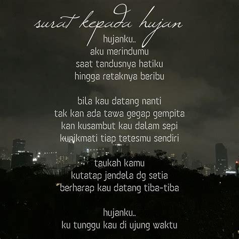 quotes tentang hujan  rindu kata kata mutiara