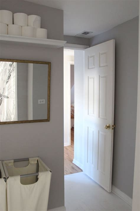 Behr Paint Colors Bathroom by Toilet Paper Shelf In The Bathroom Dolphin Gray Behr
