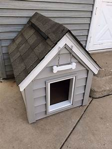 Diy dog house dog house is insulated with a ridge vent for Vinyl dog house