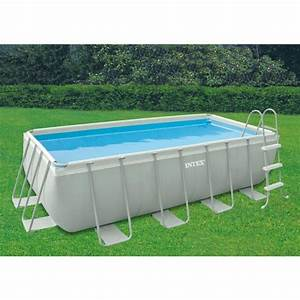 Piscine Hors Sol Rectangulaire Intex : piscine intex ultra frame 400x200x100 piscine tubulaire 28350fr chez raviday piscine ~ Melissatoandfro.com Idées de Décoration