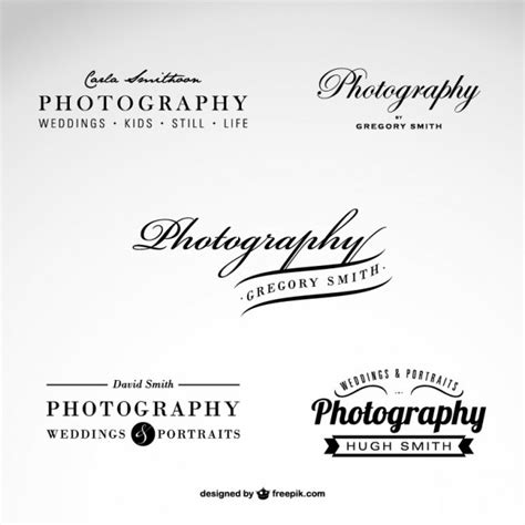 photography business logo set vector