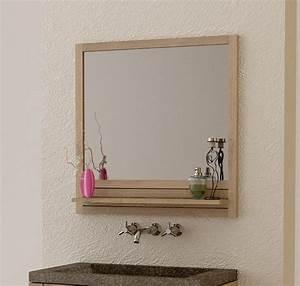 miroir de salle de bain avec tablette wasuk With glace de salle de bain avec eclairage et tablette