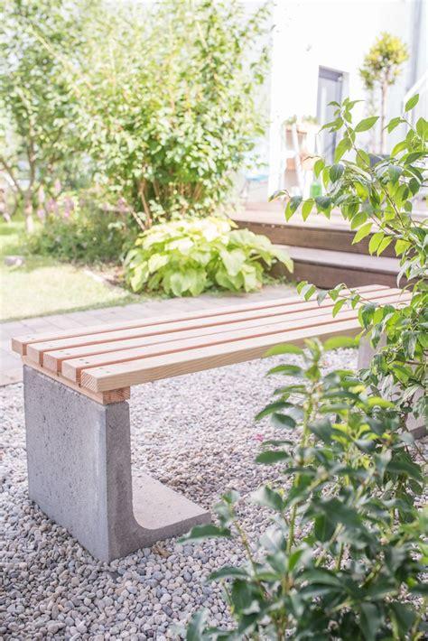 Diy Beton Garten by Diy Gartenbank Mit Beton Und Holz Holzige Ideen