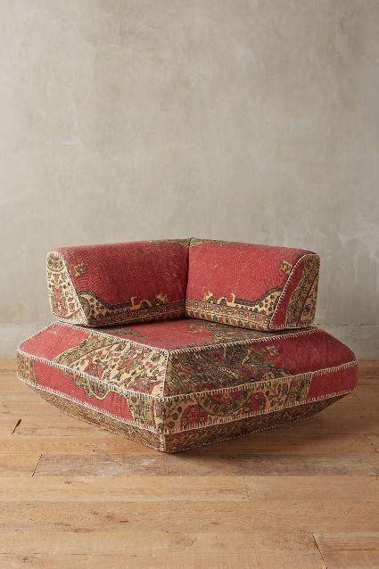 souk modular red corner chair