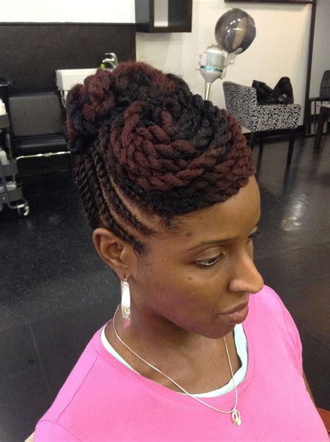 Black Updo Twist Hairstyles by Hair Flat Twist Updo Bespoke Enhanced