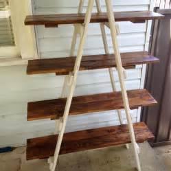 Wood Ladder Bookshelf Plans by Diy Pallet A Frame Ladder Shelf 101 Pallets