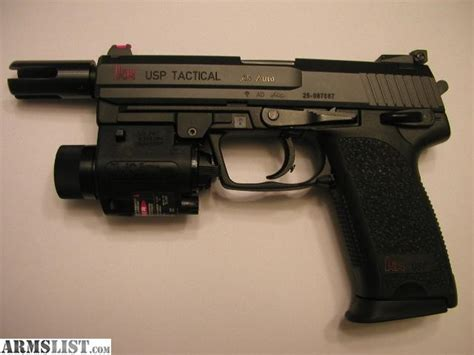 hk usp 45 laser light armslist for trade hk usp 45 tactical v1