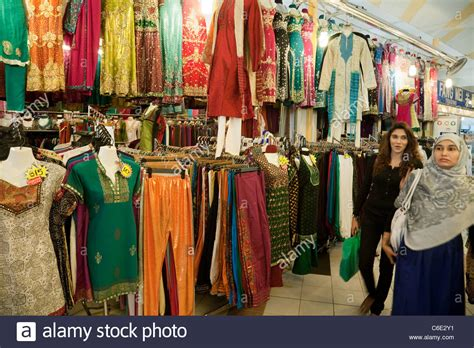 Local People Shopping For Clothes In The Tekka Centre