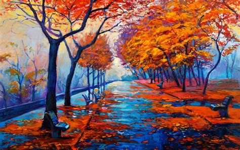 16 photos · curated by маргарита горецкая. Autumn Forest Art HD Wallpaper - Wallpaper - Vactual Papers