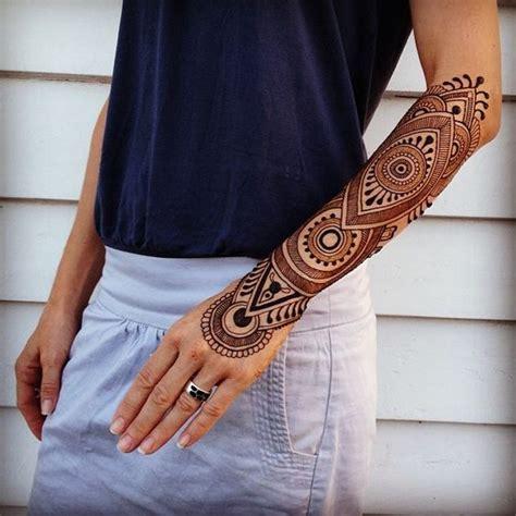 henna henna sleeve and henna arm on