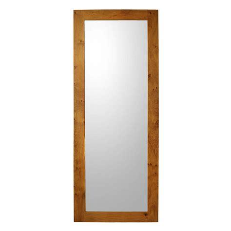 wall mounted coat oak framed mirror length