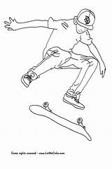 Skateboard Coloring Pages Skateboarding Colouring Printable Coloriage Hawk Skating Imprimer Skate Drawings Printables Books Deck Cool Tech Tony Easy Dessin sketch template