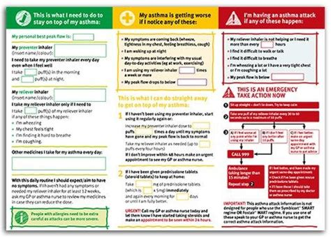 Asthma Uk  Action Plans  Asthma & Allergies Pinterest