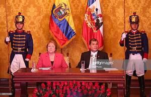 The president of Ecuador, Rafael Correa of Ecuador , along ...