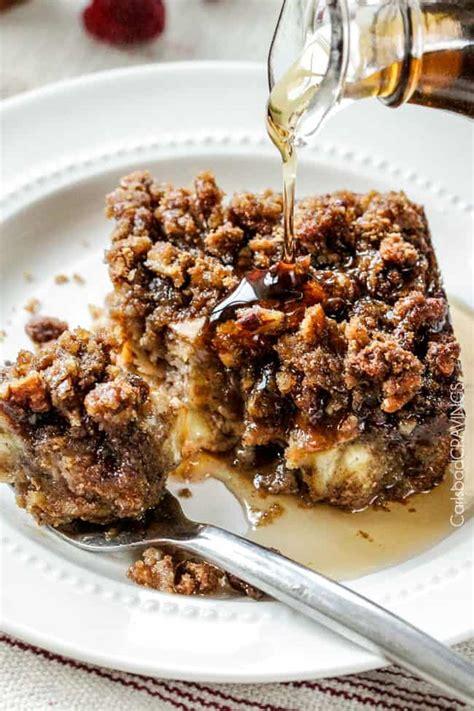 Overnight Cinnamon Eggnog French Toast Casserole