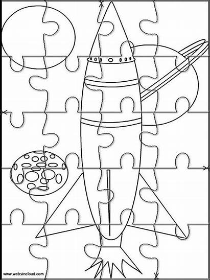 Puzzles Puzzle Printable Jigsaw Coloring Space Cut