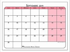 Calendarios septiembre 2019 LD Michel Zbinden es