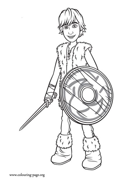train  dragon hiccup coloring page