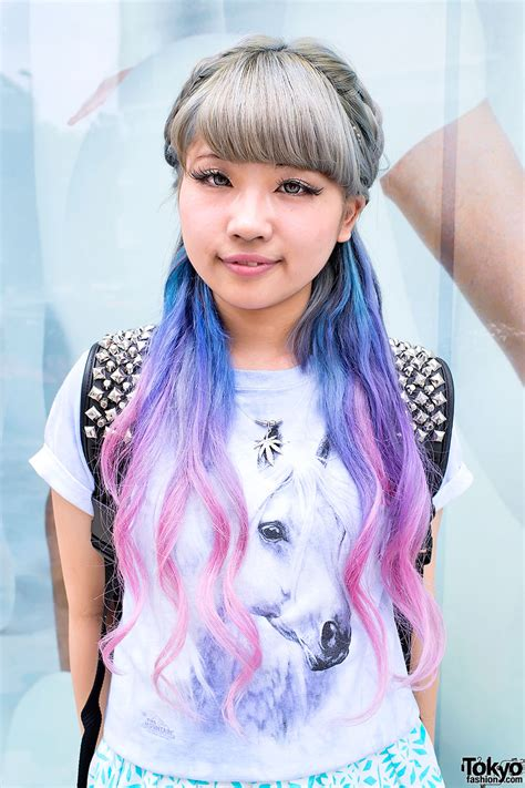 ☯miaw☯ Aspiring Japanese Singer W Dip Dye Hair And Clear