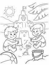 Coloring Sand Crayola Castle Colouring Building Stencils sketch template