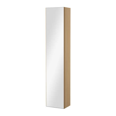 godmorgon high cabinet with mirror door white stained