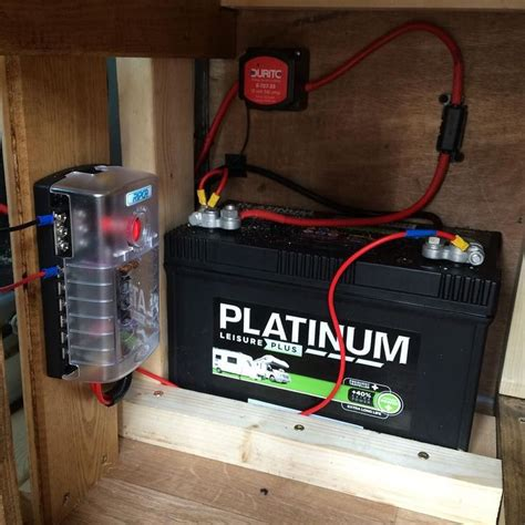 Dual Battery Wiring Fuse Box by The Split Charge Leisure Battery And Fuse Box Is In