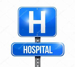 Hospital road sign illustration design — Stock Photo ...