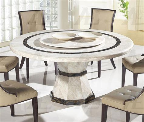 American Eagle DTH38 Beige Marble Top Round Dining Table