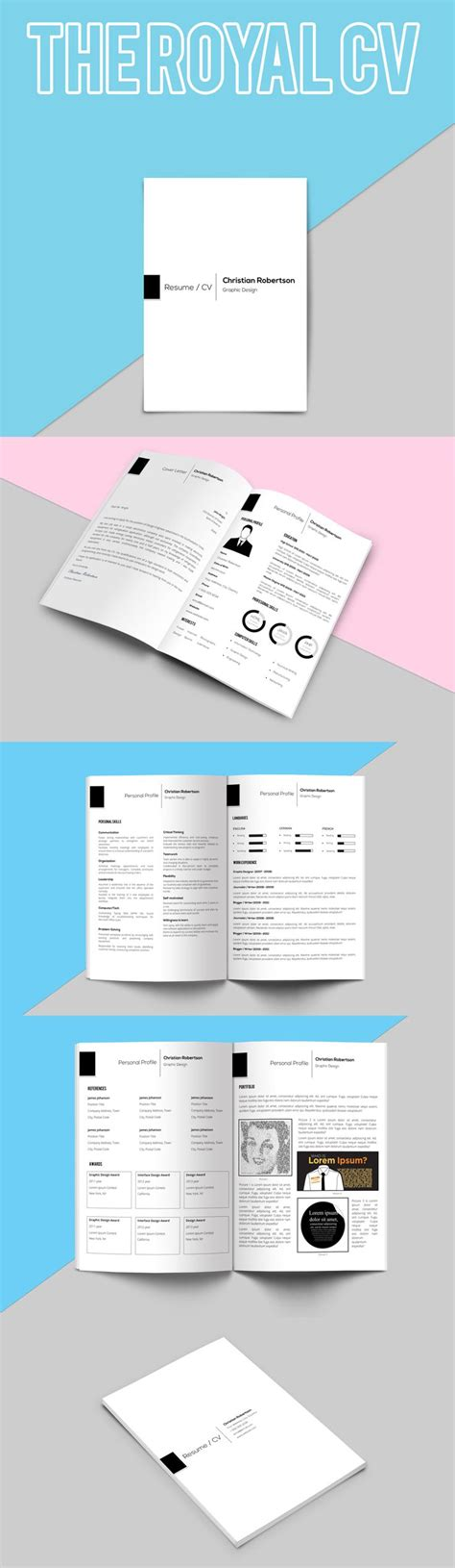 21157 resume portfolio template 8 page exclusive resume template cover letter