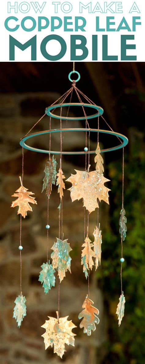 Home Decor Project Blogs by How To Make A Diy Copper Leaf Mobile The Crafty Stalker