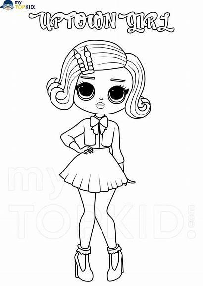 Omg Lol Coloring Kolorowanki Doll Printable Dolls