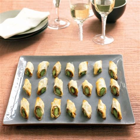 goats cheese canape recipes berry 39 s asparagus filo rolls recipe canape recipes