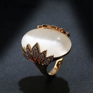 antique rose gold color wedding rings oval big natural With vintage oval wedding rings