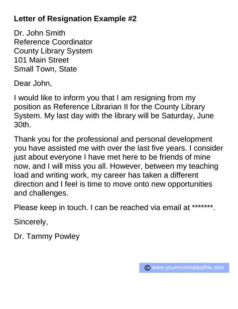 writing a letter of resignation resignation letters pdf doc 14665