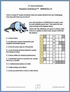 8th Grade Worksheets For Spelling And Vocab Enrichment