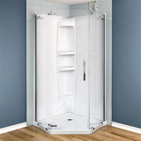 maax olympia 37 in x 37 in x 77 in shower stall in - Maax Shower Stalls Installation