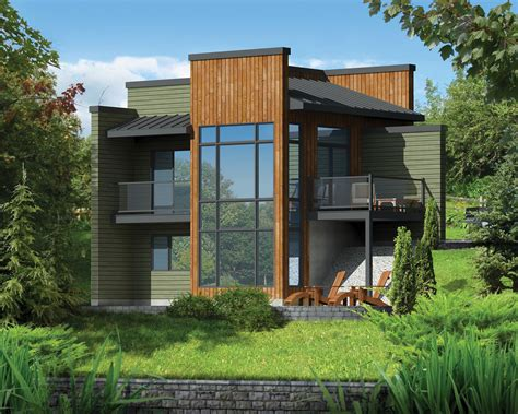 home plans for sloping lots modern getaway for a front sloping lot 80816pm