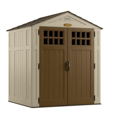 Suncast Sheds Home Depot by Suncast 6 Ft 8 In X 5 Ft 6 In Resin Storage Shed