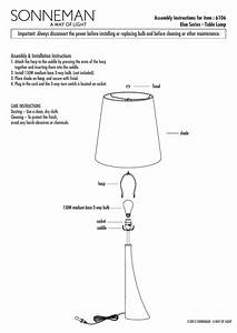 Assembly Instructions For Item   6106 Elan Series