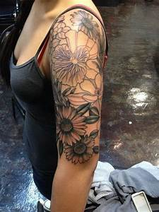 Tattoos Women Black And White Sleeve Tattoo Designs