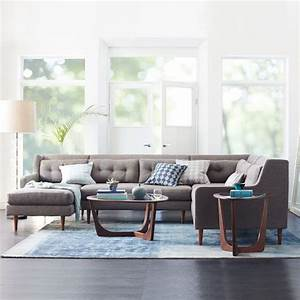 crosby mid century 4 piece chaise sectional west elm With west elm crosby sectional sofa