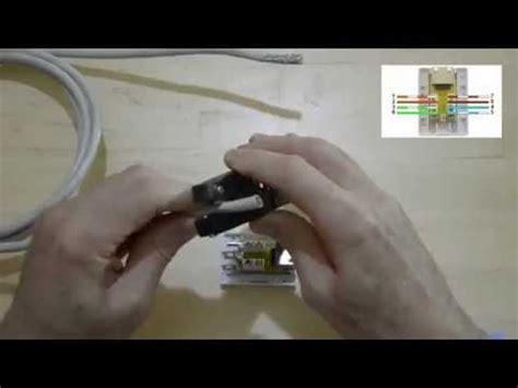 comment monter et tester un boitier mural rj45