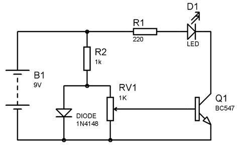 Simple Heat Sensor Temperature Circuit Diagram